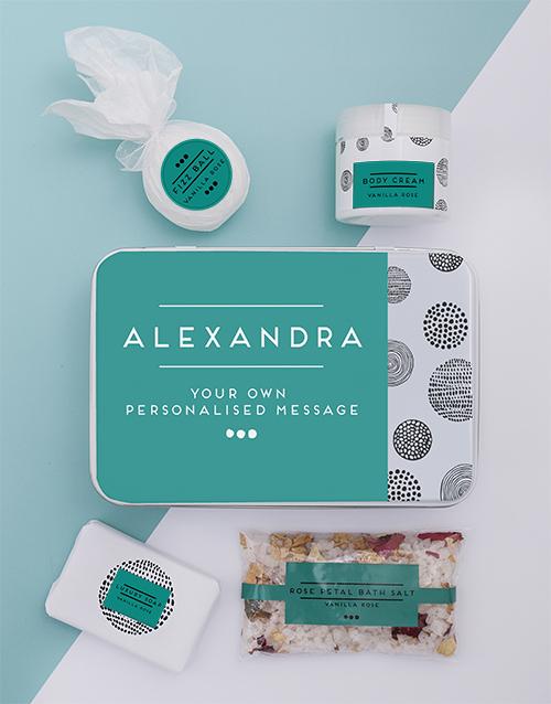 mothers-day: Personalised Bath Spoils Keepsake Box!