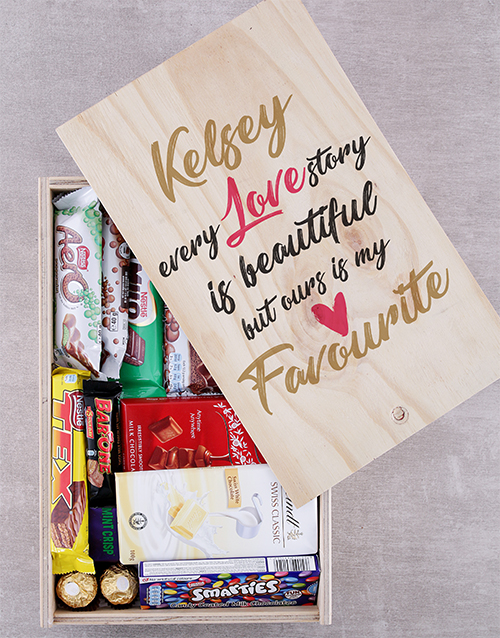 personalised: Personalised Love Story Chocolate Crate!