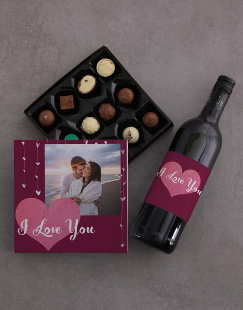personalised: Personalised Photo Love Choc Tray!
