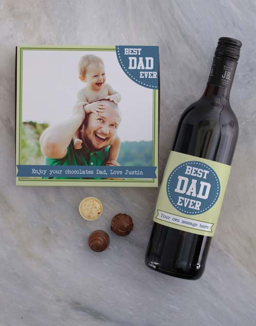 personalised: Personalised Best Dad Photo Choc Tray!