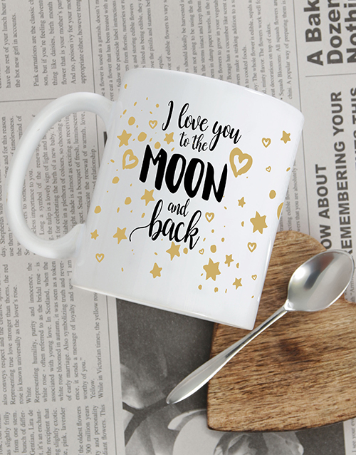 personalised: Personalised Moon and Back Mug!