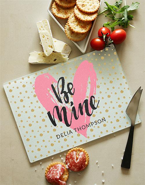 homeware: Love and Romance Glass Chopping Board!