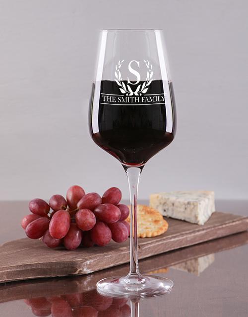 personalised: Personalised Wine Glass Set !