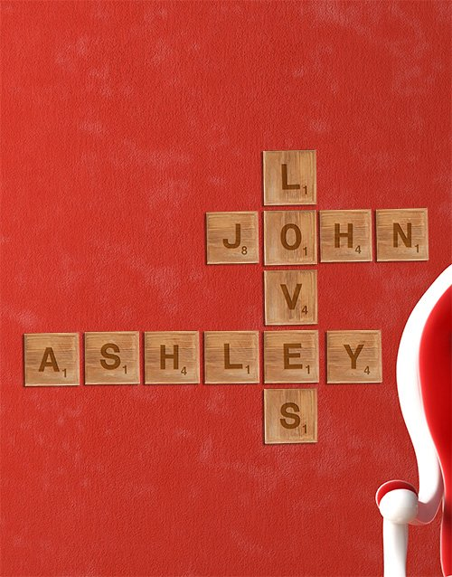 personalised: Personalised Large Love Scrabble Letters!