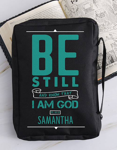 faith: Personalised Be Still Bible Case!