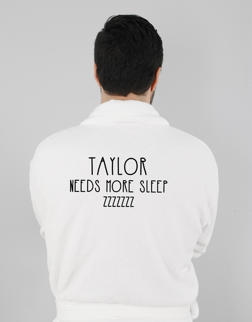 personalised: Personalised Need More Sleep Gown!