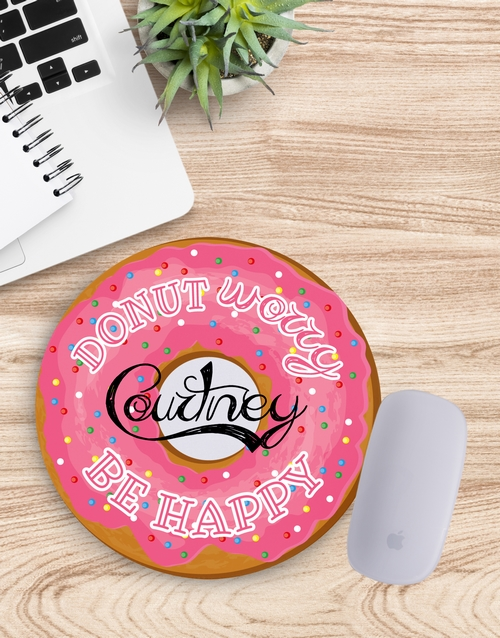personalised: Personalised Donut Worry Mouse Pad!