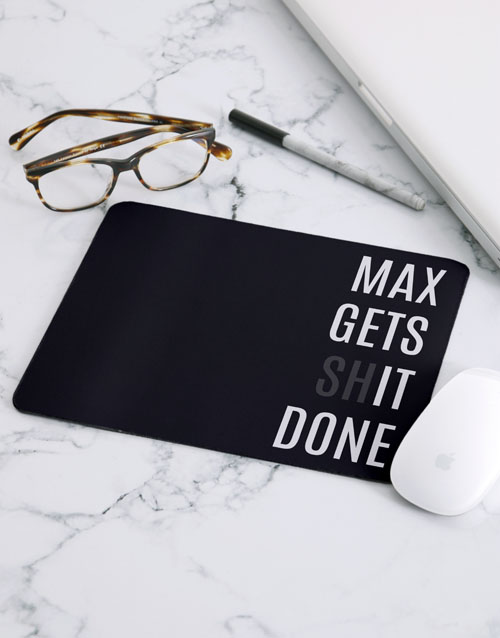 personalised: Personalised Gets It Done Mouse Pad!
