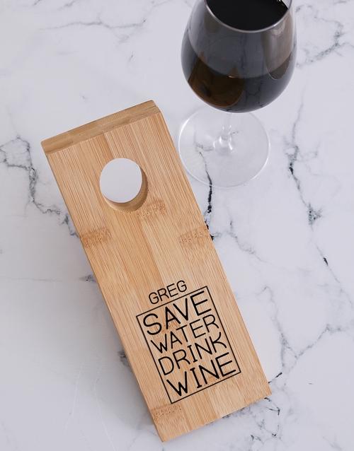 gifts: Drink Wine Bottle Holder!
