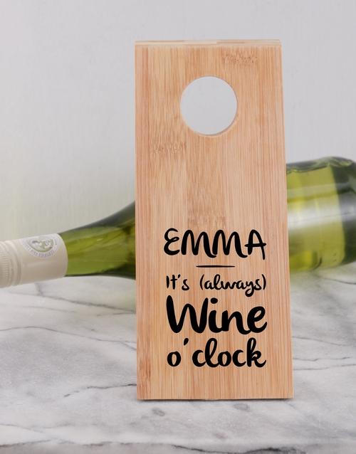 homeware: Time for Wine Bottle Holder!
