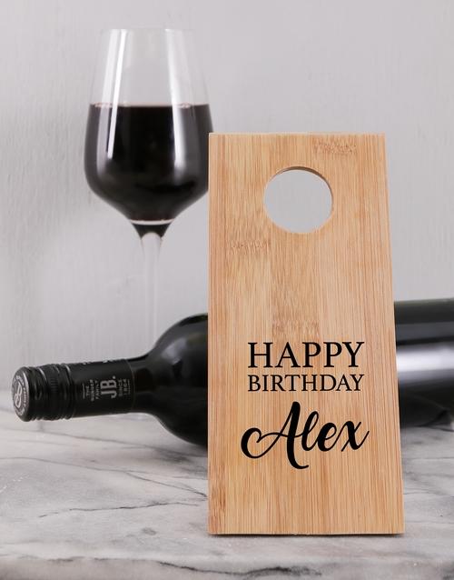 homeware: Birthday Wine Bottle Holder!