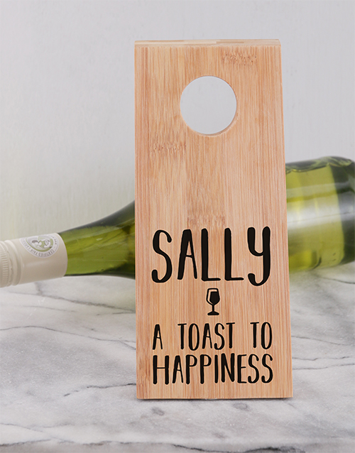 gifts: Happiness Wine Bottle Holder!