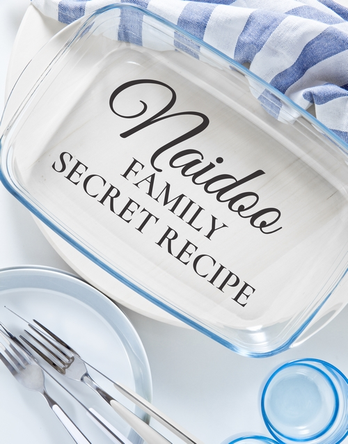 homeware: Personalised Family Secret Recipe Dish!