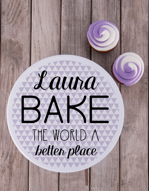 homeware: Personalised Bake The World Cookie Tin!