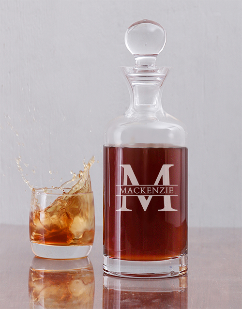 homeware: Personalised Tall Fine Alcohol Decanter!