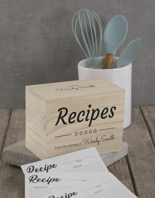 personalised: Personalised Five star recipe box!