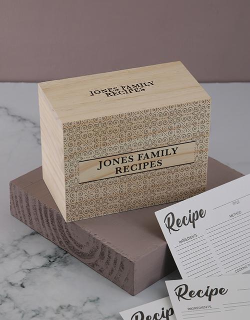 personalised: Personalised Classic recipe box!