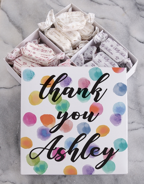 personalised: Personalised Thank You Sally Williams Nougat Box!