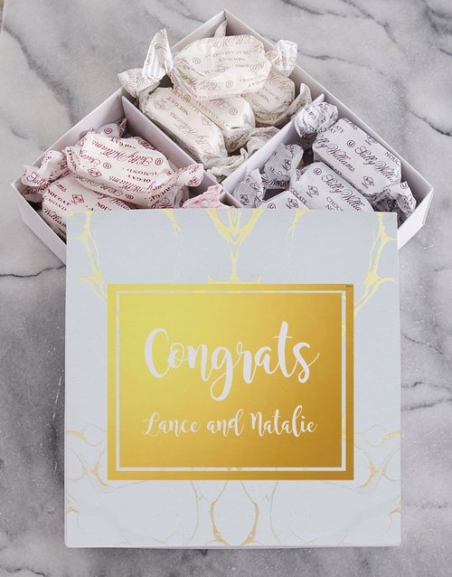 chocolate: Personalised Congrats Sally Williams Nougat Box!