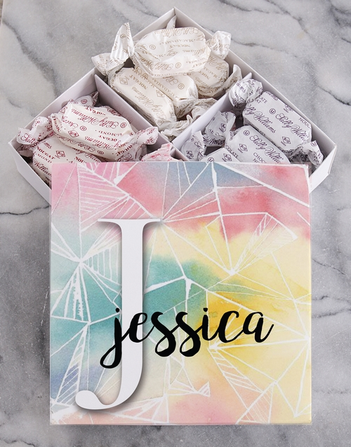 personalised: Personalised Water Mark Sally Williams Nougat Box!