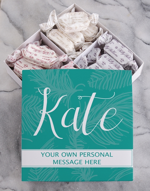 chocolate: Personalised Leaf Sally Williams Nougat Box!