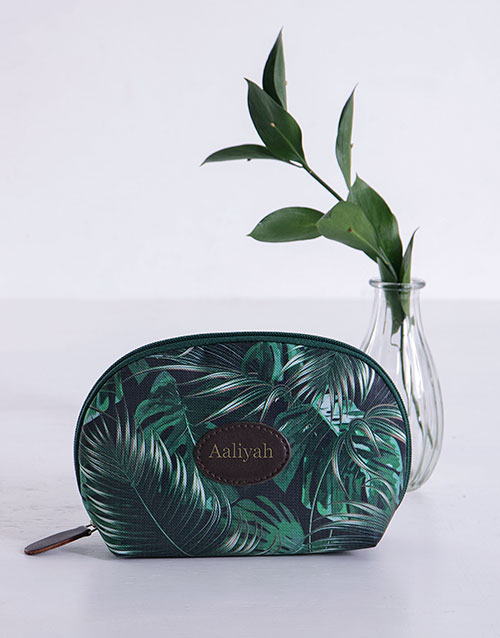 bath-and-body: Personalised Botanical Flower Cosmetic Bag!