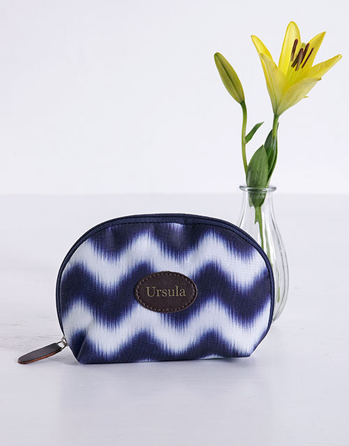 personalised: Personalised Blue Watercolour Cosmetic Bag!