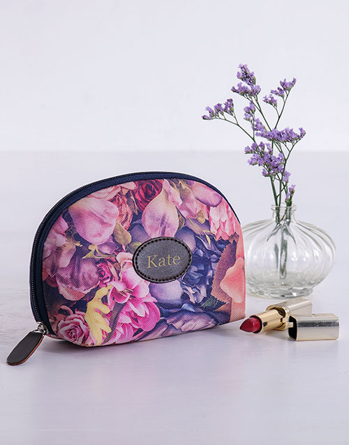 personalised: Personalised Watercolour Floral Cosmetic Bag!