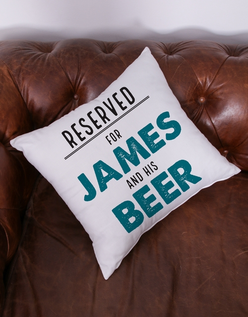 get-well: Personalised Reserved For Him Scatter Cushion!