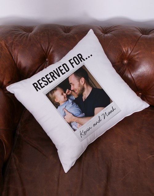 personalised: Personalised Reserved Photo Scatter Cushion!