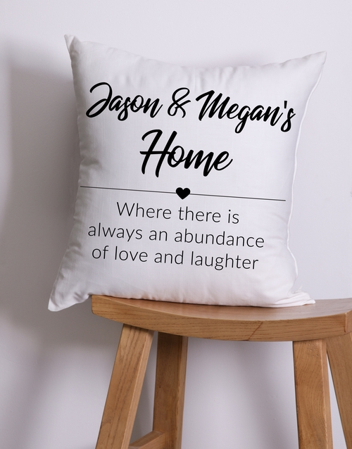 home-decor: Personalised House Scatter Cushion!