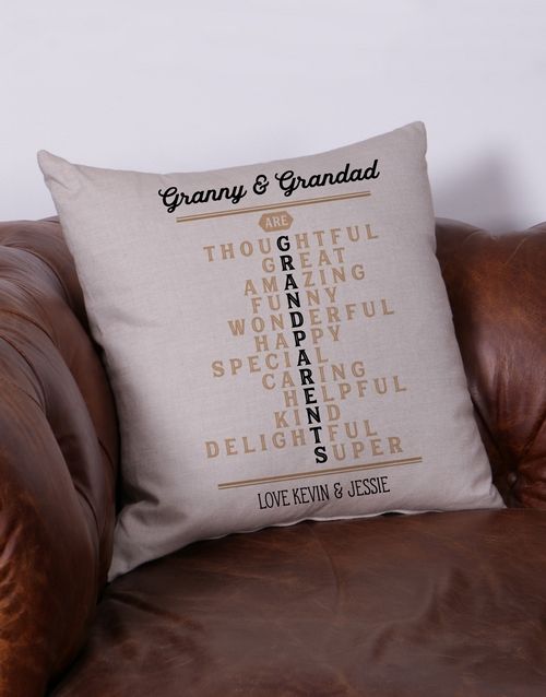 fathers-day: Personalised Grandparents Scatter Cushion!