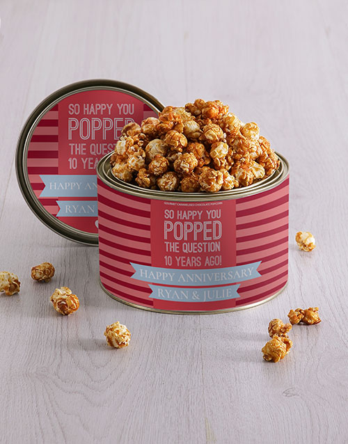 roses: Personalised Anniversary Popcorn Tin!