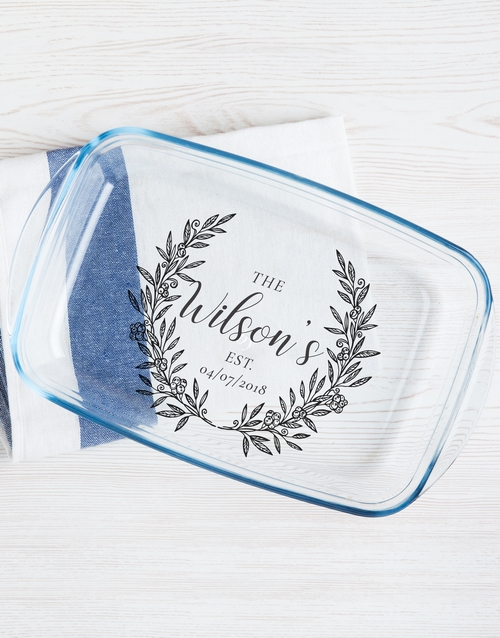 house-warming: Personalised Family Wreath Dish!