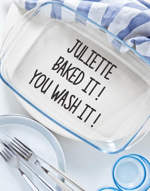 birthday: Personalised You Wash It Dish!