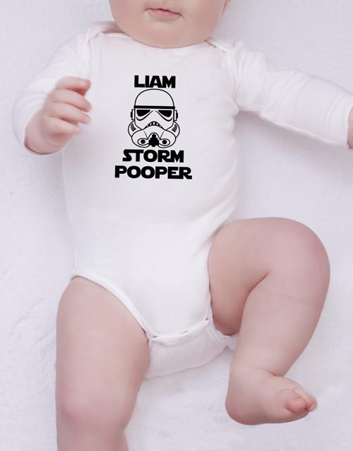 baby: Personalised Storm Pooper Onesie!