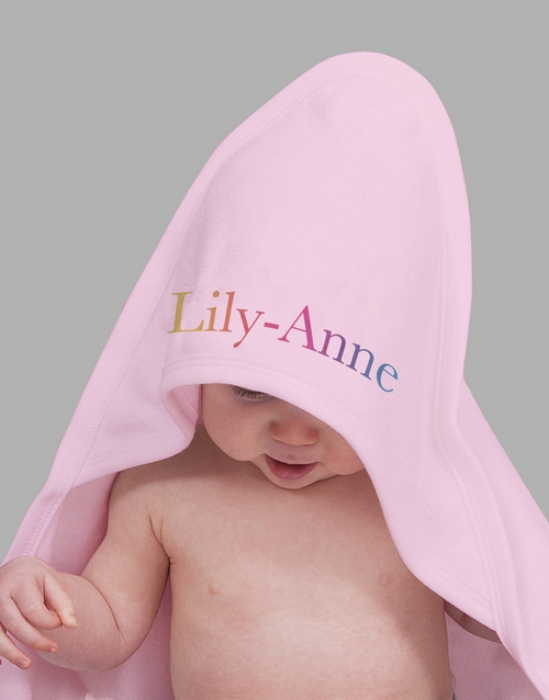 personalised: Personalised Multi Colour Name Hooded Towel!