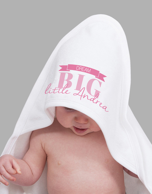 personalised: Personalised Dream Big Girl Hooded Towel!