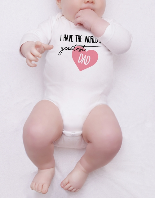 personalised: Personalised Worlds Greatest Dad Onesie!