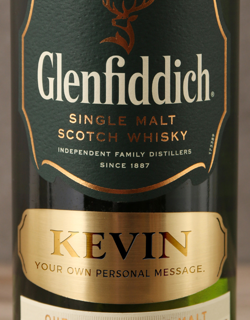 anniversary: Personalised Label Glenfiddich 12 Year!