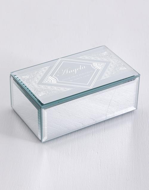 mothers-day: Personalised Mandala Mirror Trinket Box!