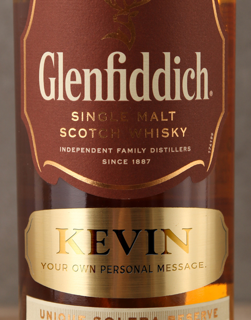 anniversary: Personalised Label Glenfiddich 15 Year!