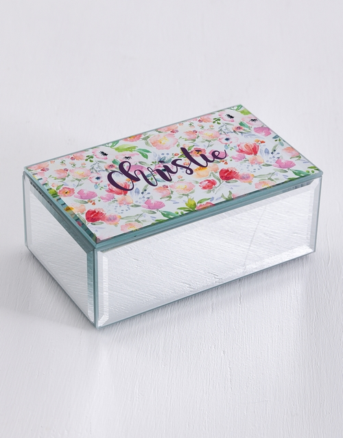 mothers-day: Personalised Watercolour Mirror Trinket Box!