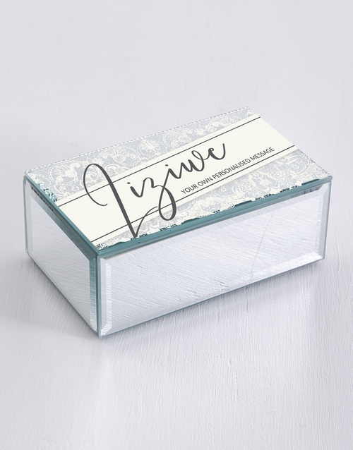 christmas: Personalised Lace Mirror Trinket Box!