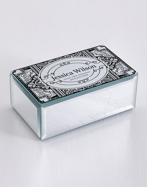 mothers-day: Personalised Distressed Mirror Trinket Box!