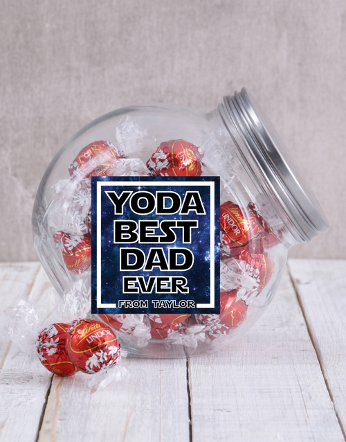 fathers-day: Personalised Yoda Best Candy Jar!