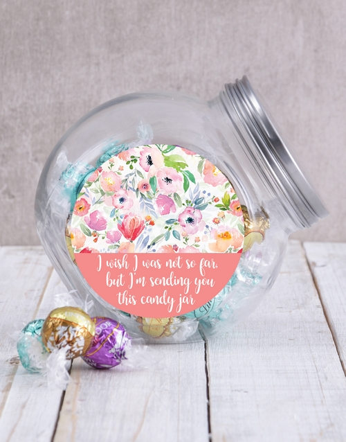 birthday: Personalised Floral Candy Jar!
