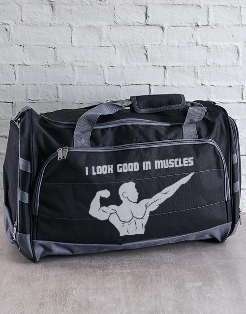 personalised: Personalised I Look Good Gym Bag!