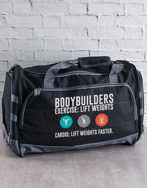 personalised: Personalised Bodybuilder Gym Bag!