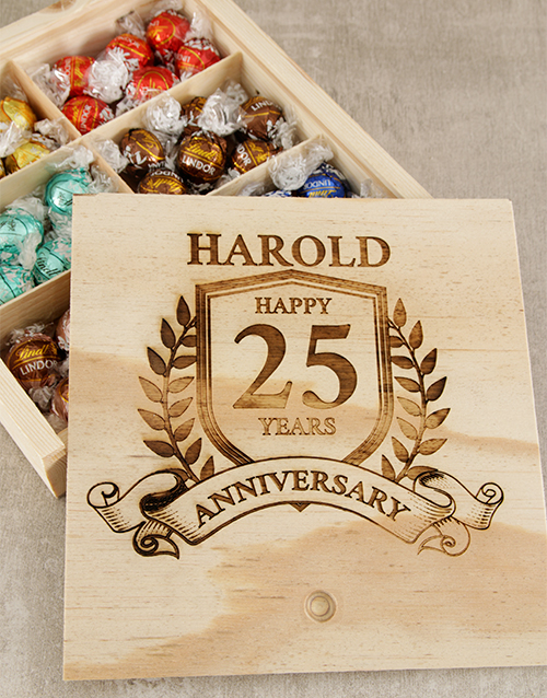 Chocolate Gift Boxes South Africa : Buy personalised anniversary year choc box netflorist
